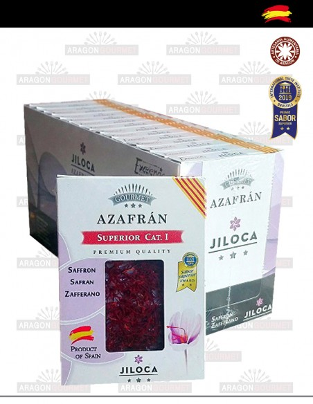 Pack small boxes of catón with saffron