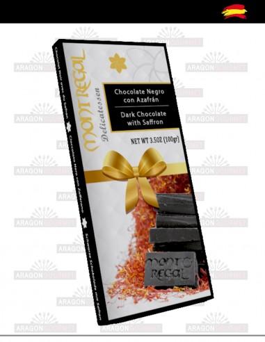 Chocolate negro con azafrán