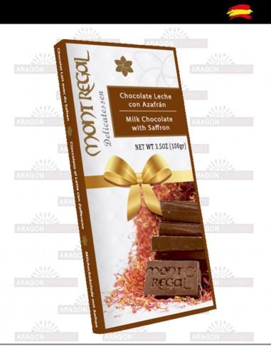 Chocolate con leche al azafrán