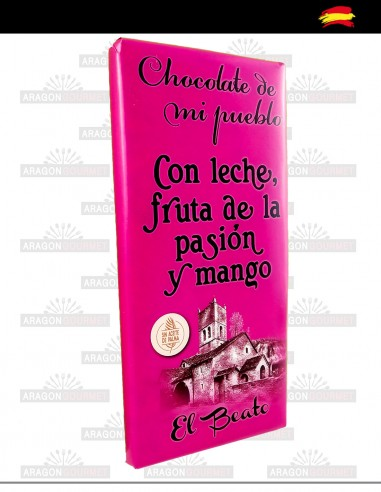 Chocolate with Milk, passion fruit and mango
