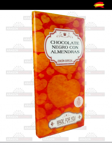 Black Chocolate with Almonds