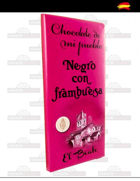 Chocolate negro con frambuesas