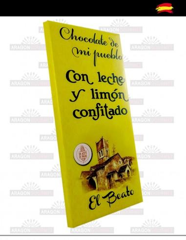 Chocolat au lait et citron confit