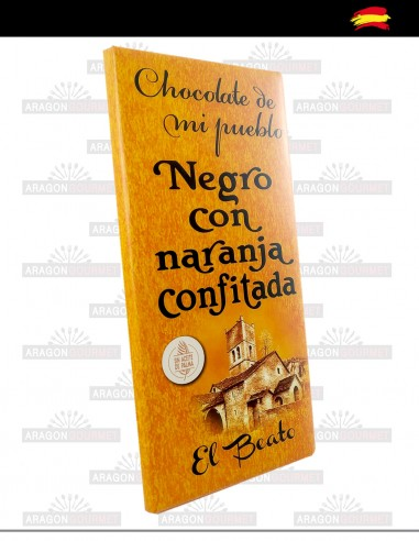 Chocolat noir à l'orange confite