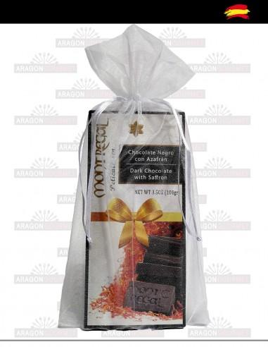 Chocolate with saffron details...