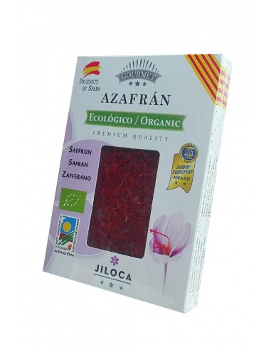 Organic saffron in box