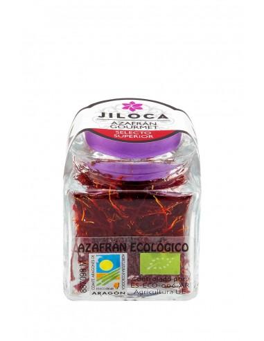 Glass jar organic saffron