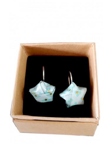 Pendientes Origami Azul